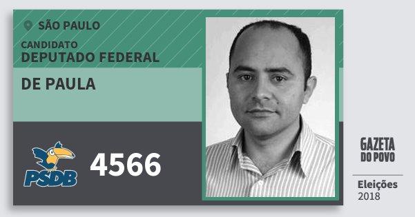 Santinho de Paula 4566 (PSDB) Deputado Federal | São Paulo | Eleições 2018