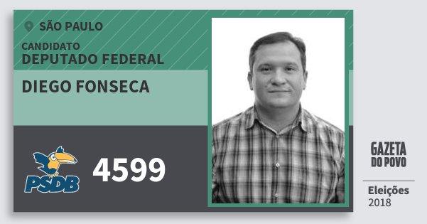 Santinho Diego Fonseca 4599 (PSDB) Deputado Federal | São Paulo | Eleições 2018