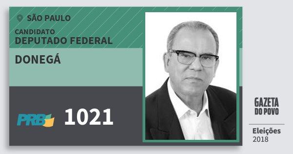 Santinho Donegá 1021 (PRB) Deputado Federal | São Paulo | Eleições 2018