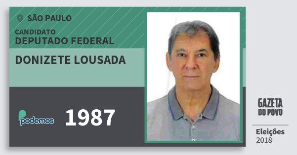 Santinho Donizete Lousada 1987 (PODE) Deputado Federal | São Paulo | Eleições 2018