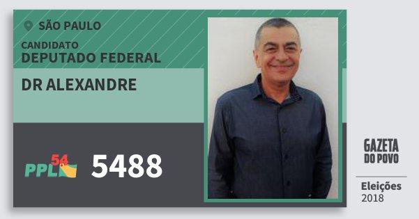 Santinho Dr Alexandre 5488 (PPL) Deputado Federal | São Paulo | Eleições 2018
