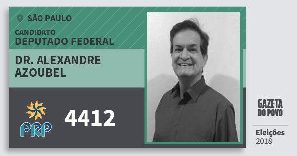 Santinho Dr. Alexandre Azoubel 4412 (PRP) Deputado Federal | São Paulo | Eleições 2018