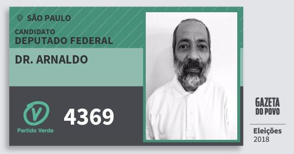 Santinho Dr. Arnaldo 4369 (PV) Deputado Federal | São Paulo | Eleições 2018