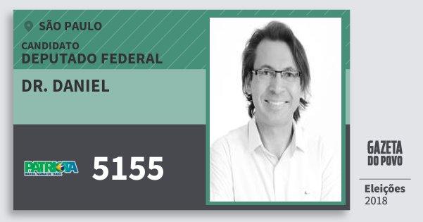 Santinho Dr. Daniel 5155 (PATRI) Deputado Federal | São Paulo | Eleições 2018