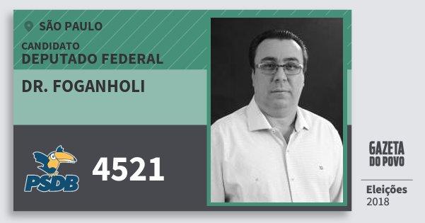 Santinho Dr. Foganholi 4521 (PSDB) Deputado Federal | São Paulo | Eleições 2018