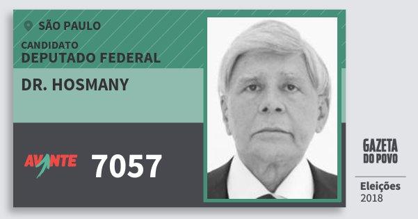 Santinho Dr. Hosmany 7057 (AVANTE) Deputado Federal | São Paulo | Eleições 2018