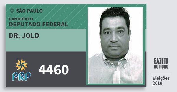 Santinho Dr. Jold 4460 (PRP) Deputado Federal | São Paulo | Eleições 2018