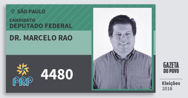 Santinho Dr. Marcelo Rao 4480 (PRP) Deputado Federal | São Paulo | Eleições 2018