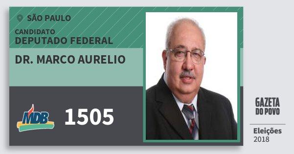Santinho Dr. Marco Aurelio 1505 (MDB) Deputado Federal | São Paulo | Eleições 2018