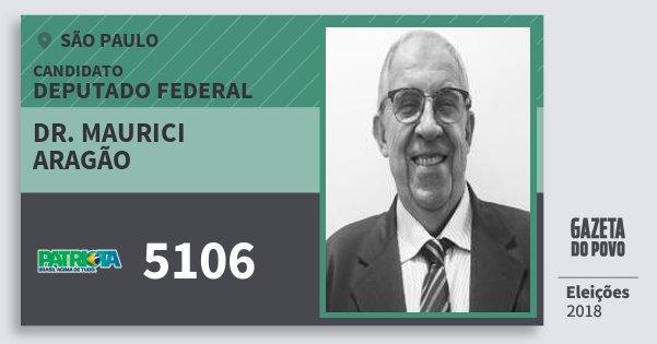 Santinho Dr. Maurici Aragão 5106 (PATRI) Deputado Federal | São Paulo | Eleições 2018