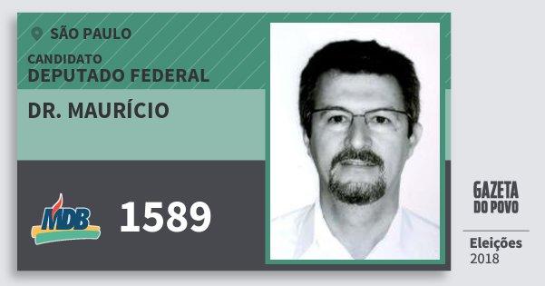 Santinho Dr. Maurício 1589 (MDB) Deputado Federal | São Paulo | Eleições 2018