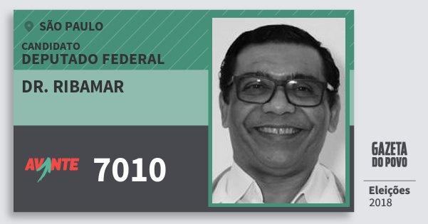Santinho Dr. Ribamar 7010 (AVANTE) Deputado Federal | São Paulo | Eleições 2018