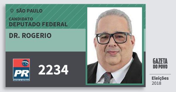 Santinho Dr. Rogerio 2234 (PR) Deputado Federal | São Paulo | Eleições 2018