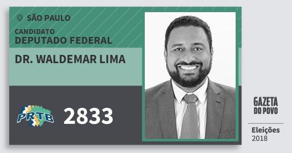 Santinho Dr. Waldemar Lima 2833 (PRTB) Deputado Federal | São Paulo | Eleições 2018