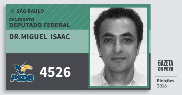 Santinho Dr.miguel  Isaac 4526 (PSDB) Deputado Federal | São Paulo | Eleições 2018