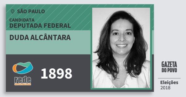 Santinho Duda Alcântara 1898 (REDE) Deputada Federal | São Paulo | Eleições 2018