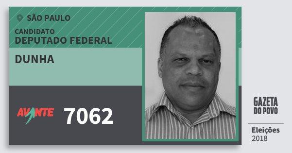 Santinho Dunha 7062 (AVANTE) Deputado Federal | São Paulo | Eleições 2018