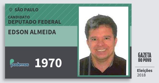 Santinho Edson Almeida 1970 (PODE) Deputado Federal | São Paulo | Eleições 2018