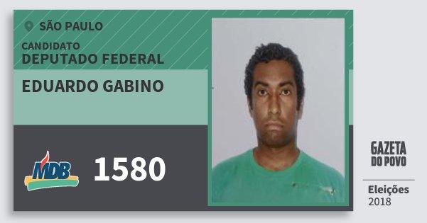 Santinho Eduardo Gabino 1580 (MDB) Deputado Federal | São Paulo | Eleições 2018