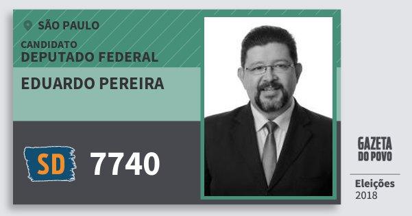 Santinho Eduardo Pereira 7740 (SOLIDARIEDADE) Deputado Federal | São Paulo | Eleições 2018
