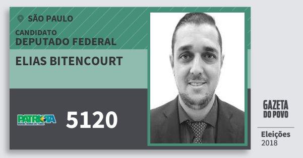 Santinho Elias Bitencourt 5120 (PATRI) Deputado Federal | São Paulo | Eleições 2018