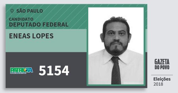 Santinho Eneas Lopes 5154 (PATRI) Deputado Federal | São Paulo | Eleições 2018
