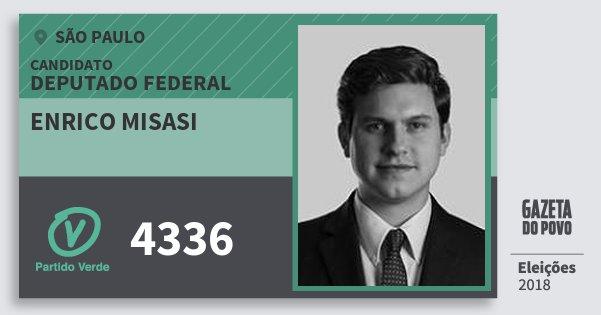 Santinho Enrico Misasi 4336 (PV) Deputado Federal | São Paulo | Eleições 2018