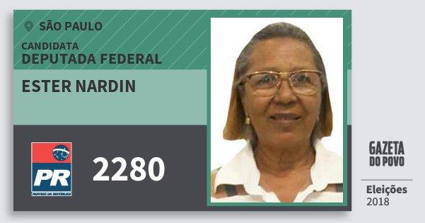 Santinho Ester Nardin 2280 (PR) Deputada Federal | São Paulo | Eleições 2018