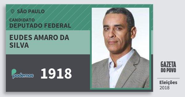 Santinho Eudes Amaro da Silva 1918 (PODE) Deputado Federal | São Paulo | Eleições 2018