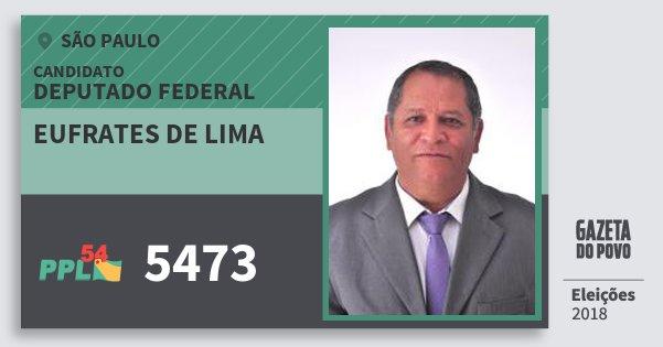 Santinho Eufrates de Lima 5473 (PPL) Deputado Federal | São Paulo | Eleições 2018