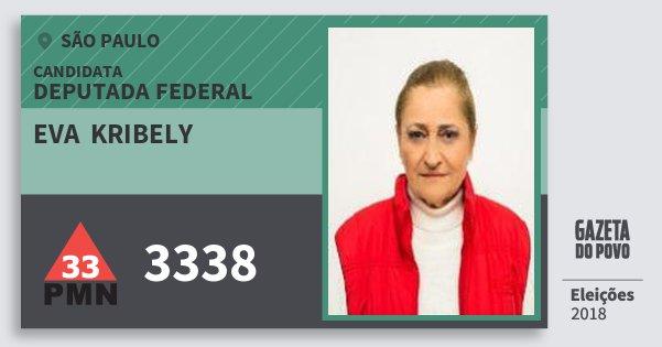 Santinho Eva  Kribely 3338 (PMN) Deputada Federal | São Paulo | Eleições 2018