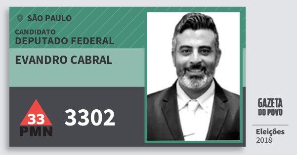 Santinho Evandro Cabral 3302 (PMN) Deputado Federal | São Paulo | Eleições 2018