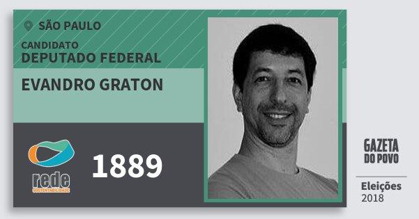 Santinho Evandro Graton 1889 (REDE) Deputado Federal | São Paulo | Eleições 2018