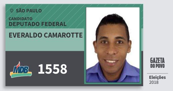 Santinho Everaldo Camarotte 1558 (MDB) Deputado Federal | São Paulo | Eleições 2018