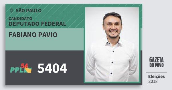 Santinho Fabiano Pavio 5404 (PPL) Deputado Federal | São Paulo | Eleições 2018