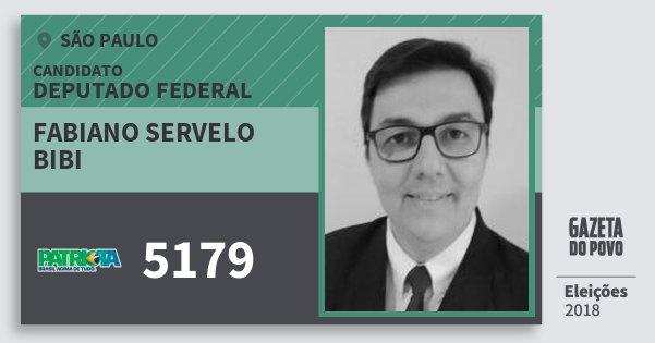 Santinho Fabiano Servelo Bibi 5179 (PATRI) Deputado Federal | São Paulo | Eleições 2018