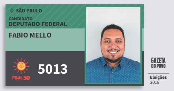 Santinho Fabio Mello 5013 (PSOL) Deputado Federal   São Paulo   Eleições 2018