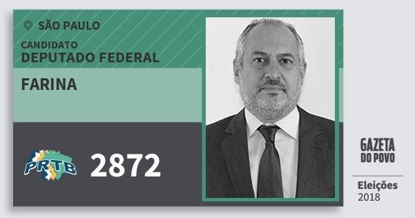 Santinho Farina 2872 (PRTB) Deputado Federal | São Paulo | Eleições 2018