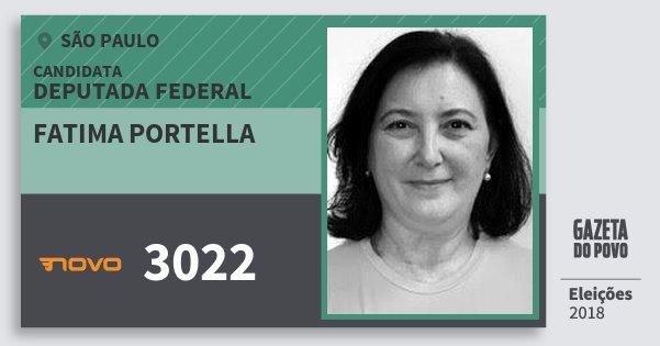 Santinho Fatima Portella 3022 (NOVO) Deputada Federal | São Paulo | Eleições 2018