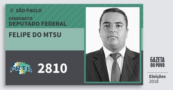 Santinho Felipe do Mtsu 2810 (PRTB) Deputado Federal | São Paulo | Eleições 2018