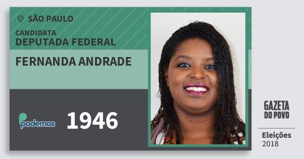 Santinho Fernanda Andrade 1946 (PODE) Deputada Federal | São Paulo | Eleições 2018