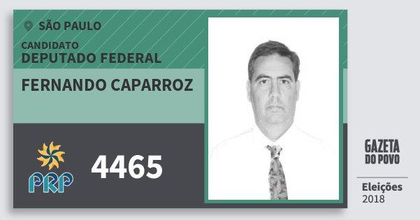 Santinho Fernando Caparroz 4465 (PRP) Deputado Federal | São Paulo | Eleições 2018