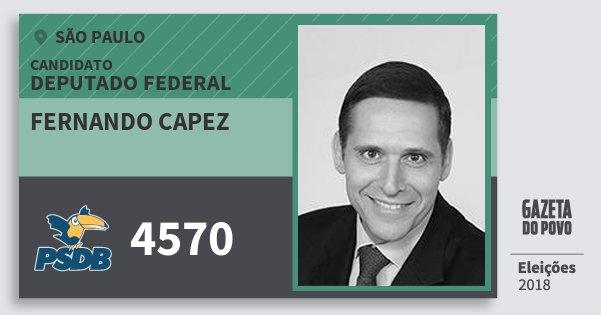 Santinho Fernando Capez 4570 (PSDB) Deputado Federal | São Paulo | Eleições 2018