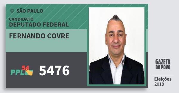 Santinho Fernando Covre 5476 (PPL) Deputado Federal | São Paulo | Eleições 2018