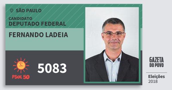 Santinho Fernando Ladeia 5083 (PSOL) Deputado Federal | São Paulo | Eleições 2018