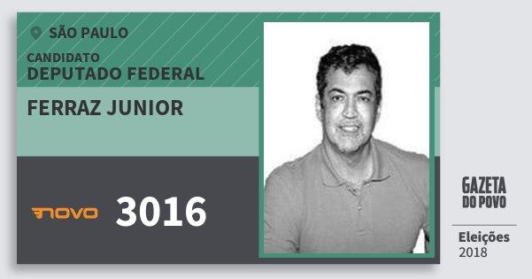 Santinho Ferraz Junior 3016 (NOVO) Deputado Federal | São Paulo | Eleições 2018
