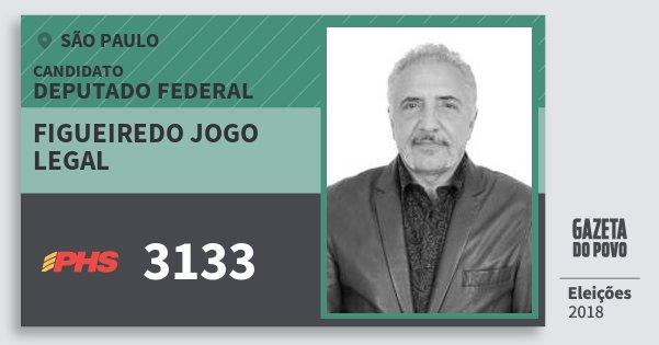 Santinho Figueiredo Jogo Legal 3133 (PHS) Deputado Federal | São Paulo | Eleições 2018