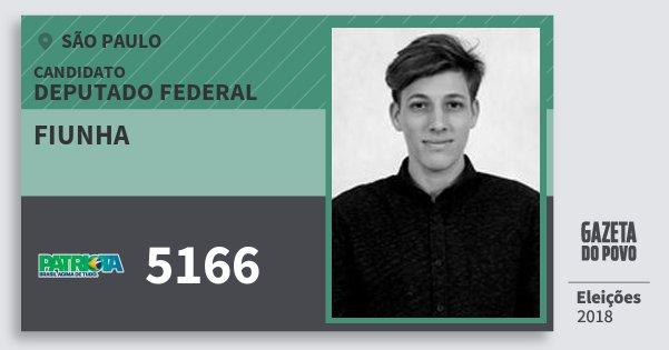 Santinho Fiunha 5166 (PATRI) Deputado Federal | São Paulo | Eleições 2018
