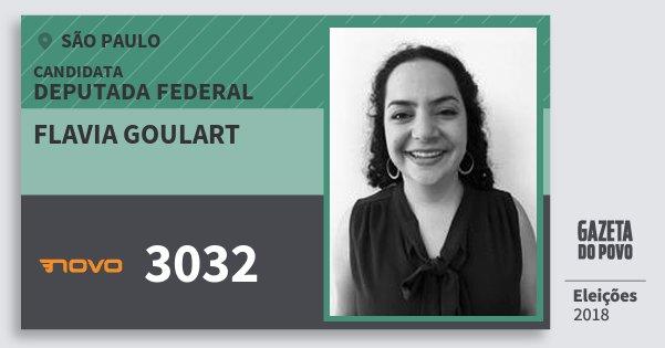 Santinho Flavia Goulart 3032 (NOVO) Deputada Federal | São Paulo | Eleições 2018