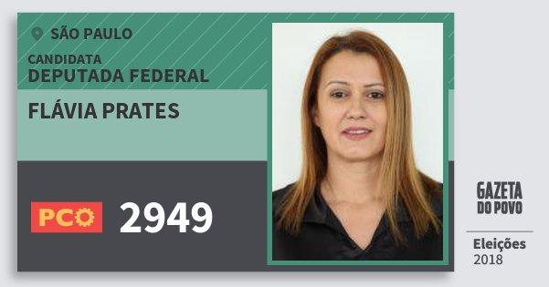 Santinho Flávia Prates 2949 (PCO) Deputada Federal | São Paulo | Eleições 2018